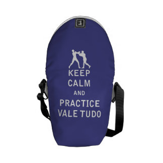 Keep Calm and Practice Vale Tudo Courier Bags