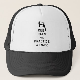 Keep Calm and Practice Wen-Do Trucker Hat