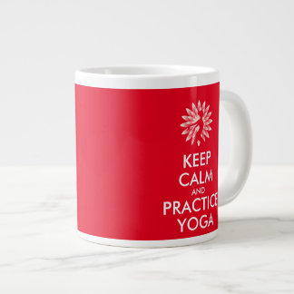 Keep calm and practice yoga large coffee mug