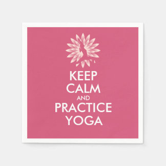 Keep calm and practice yoga napkin