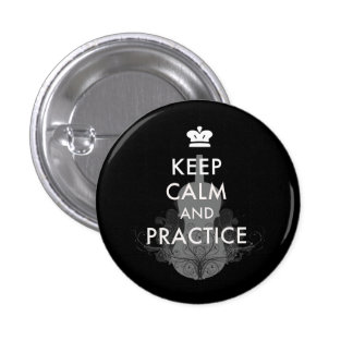 Keep Calm and Practice Your Violin Button