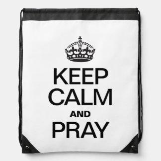 KEEP CALM AND PRAY DRAWSTRING BAG