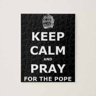 Keep calm and pray for the Pope Jigsaw Puzzle