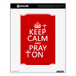 Keep Calm and Pray On - all colors available NOOK Decal