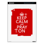 Keep Calm and Pray On - all colors available iPad 3 Decal
