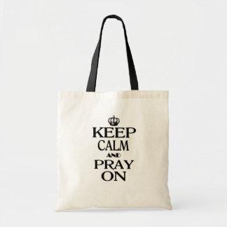 Keep Calm and Pray On Budget Tote Bag