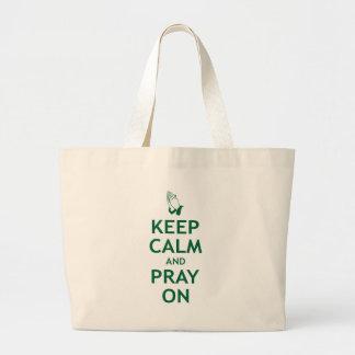 Keep Calm and Pray On Jumbo Tote Bag