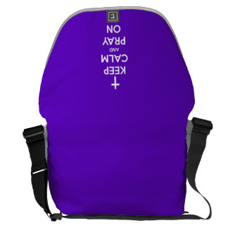 Keep Calm and Pray On Purple Courier Bag