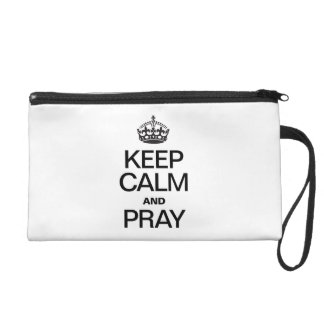 KEEP CALM AND PRAY WRISTLET CLUTCHES