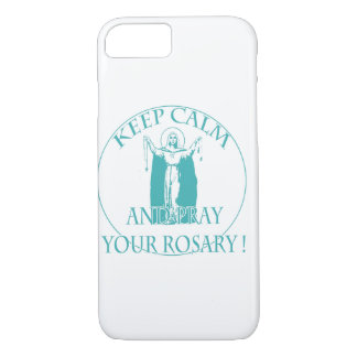 KEEP CALM AND PRAY YOUR ROSARY BY EKLEKTIX. iPhone 8/7 CASE