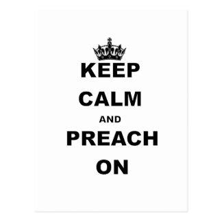 KEEP CALM AND PREACH ON POSTCARD