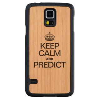 KEEP CALM AND PREDICT CARVED® CHERRY GALAXY S5 CASE
