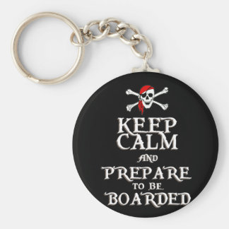 KEEP CALM and PREPARE to be BOARDED Keychain