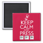 Keep Calm and press control Alt and delete funny Magnets