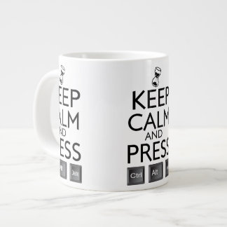 Keep Calm and press control Alt and delete funny 20 Oz Large Ceramic Coffee Mug