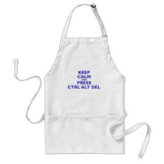Keep Calm and Press Ctrl Alt Del Adult Apron