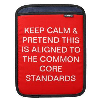 Keep Calm and Pretend iPad Sleeve