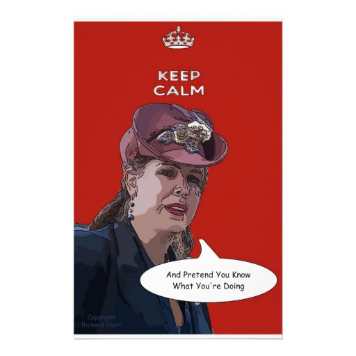 Keep Calm And Pretend You Know What You're Doing Stationery Paper
