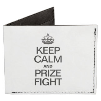 KEEP CALM AND PRIZE FIGHT BILLFOLD WALLET