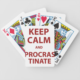 Keep Calm and Procrastinate Bicycle Playing Cards