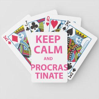 Keep Calm and Procrastinate Card Decks