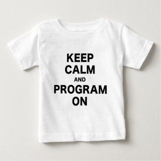 Keep Calm and Program On Tshirts