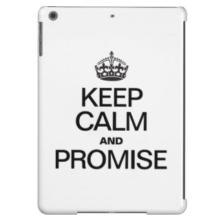 KEEP CALM AND PROMISE COVER FOR iPad AIR