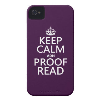 Keep Calm 'and' Proofread (adn) (in any color) Case-Mate iPhone 4 Case