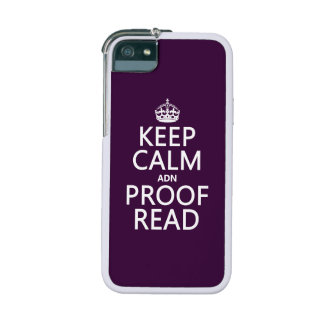 Keep Calm 'and' Proofread (adn) (in any color) iPhone 5 Cases