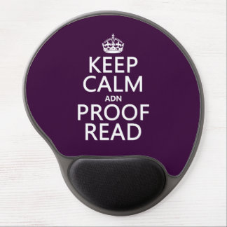 Keep Calm 'and' Proofread (adn) (in any color) Gel Mouse Pad