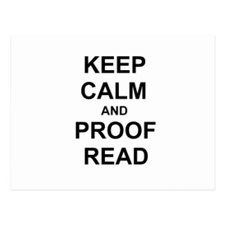 Keep Calm and Proofread black blue gray Postcard