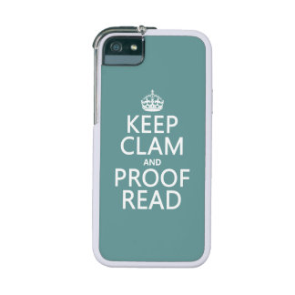 Keep Calm and Proofread (clam) (any color) Cover For iPhone 5/5S