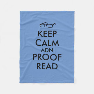 Keep Calm and Proofread Funny Blanket for Writers