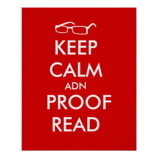 Keep Calm and Proofread Poster Writers Gifts