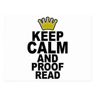 Keep Calm and Proofread Tee.png Postcard