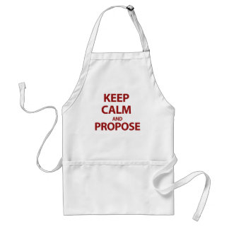 Keep Calm and Propose Adult Apron