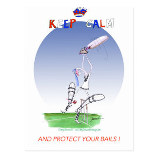 keep calm and protect your bails, tony fernandes postcard