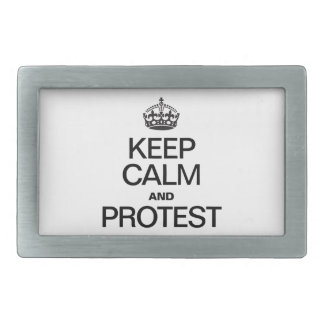 KEEP CALM AND PROTEST BELT BUCKLES