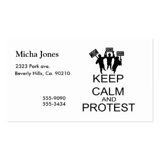 Keep Calm And Protest Business Card