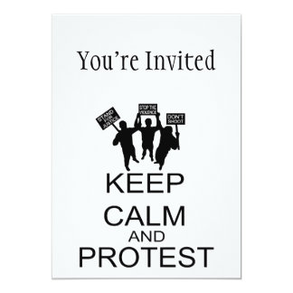 Keep Calm And Protest Card