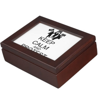 Keep Calm And Protest Keepsake Box