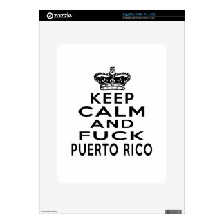 KEEP CALM AND PUERTO RICO SKINS FOR iPad