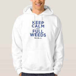 Men's Basic Hooded Sweatshirt with Keep Calm and Pull Weeds design