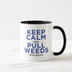 Combo Mug with Keep Calm and Pull Weeds design
