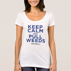 Kids' American Apparel Fine Jersey T-Shirt with Keep Calm and Pull Weeds design