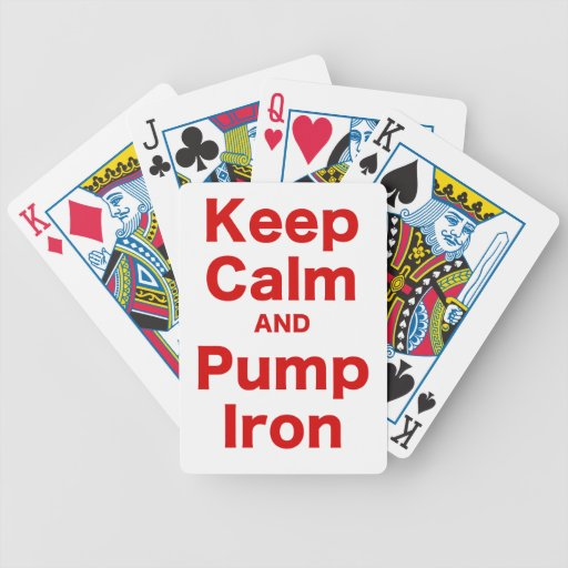 Keep Calm and Pump Iron Bicycle Card Deck