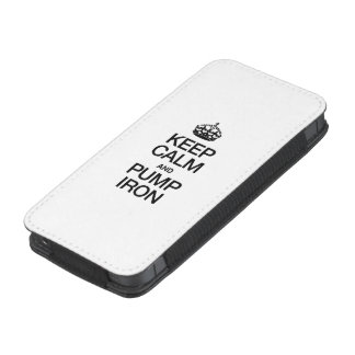 KEEP CALM AND PUMP IRON iPhone 5 POUCH
