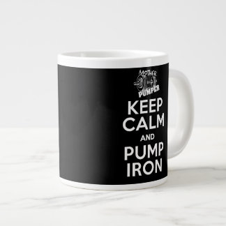Keep Calm and Pump Iron Coffee Mug