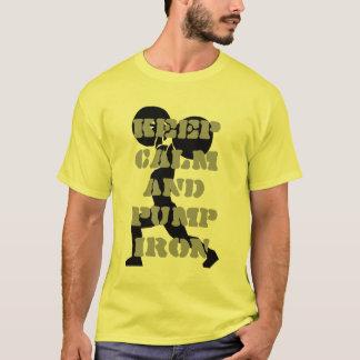 Keep Calm and Pump iron Fitness T-Shirt