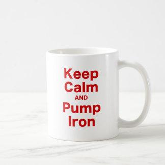 Keep Calm and Pump Iron Coffee Mug